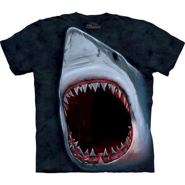 N/A T-shirt med kæmpe haj motiv fra mypets.dk