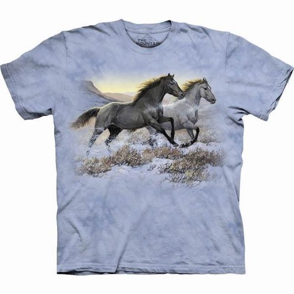 N/A Running free heste t-shirt på mypets.dk