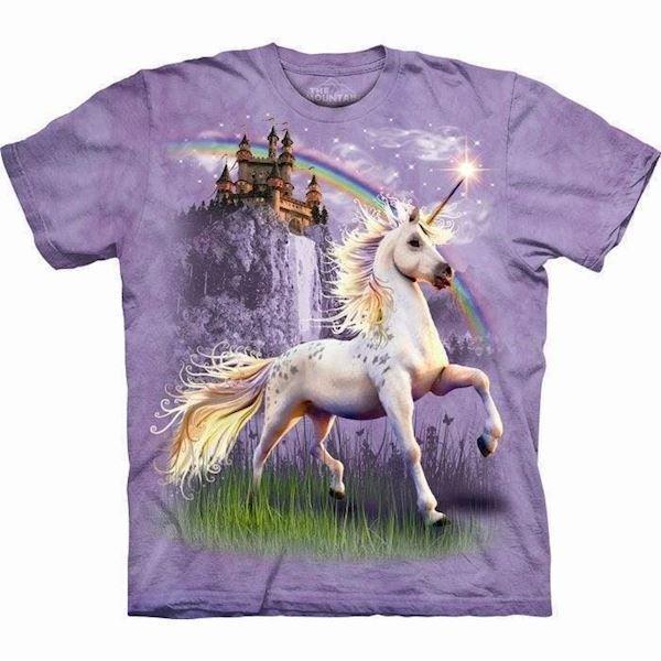 N/A – Unicorn castle heste t-shirt på mypets.dk