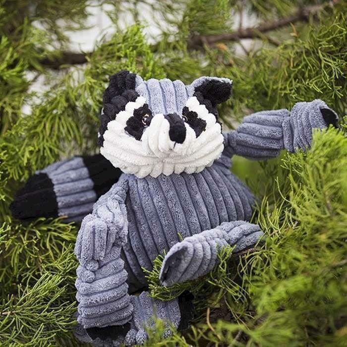 N/A Hugglehound raccoon knotties, small fra mypets.dk