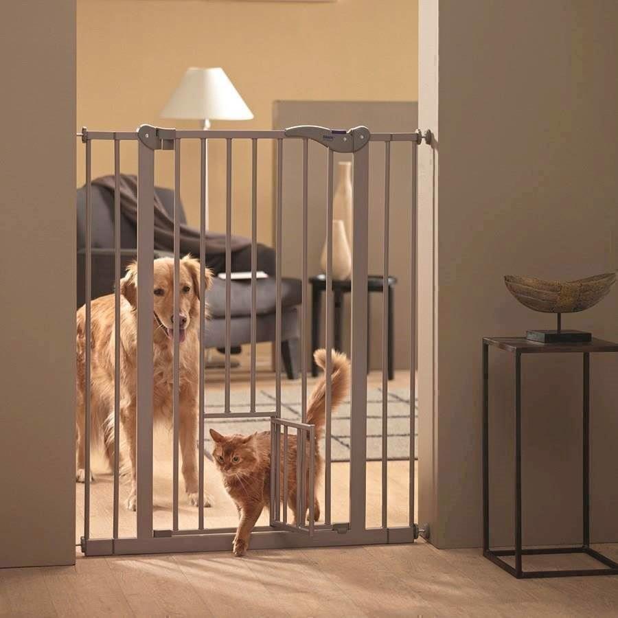 N/A Dog barrier hundegitter med kattelem indbygget på mypets.dk