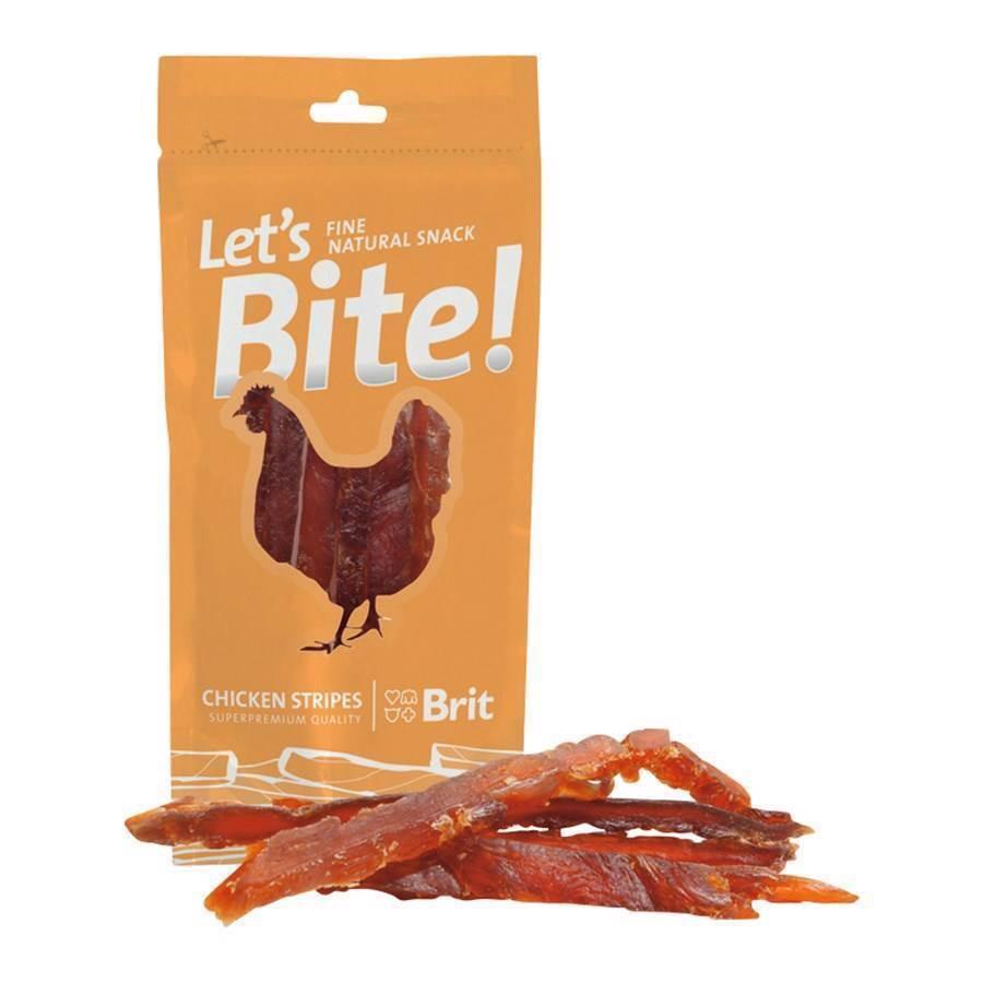 Lets bite snacks, chicken stripes fra N/A på mypets.dk