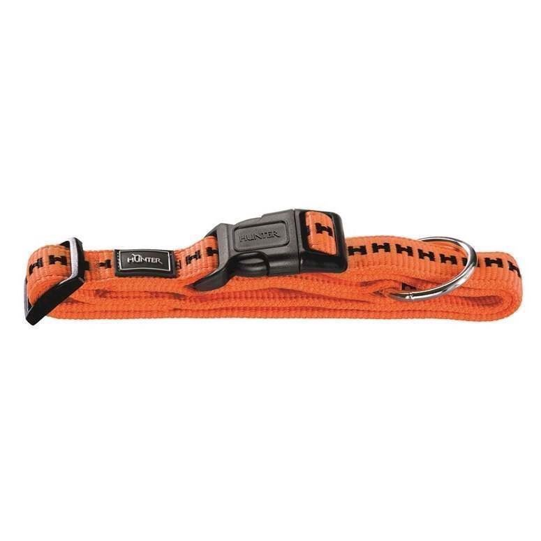 N/A – Hunter power grip halsbånd, orange, medium fra mypets.dk
