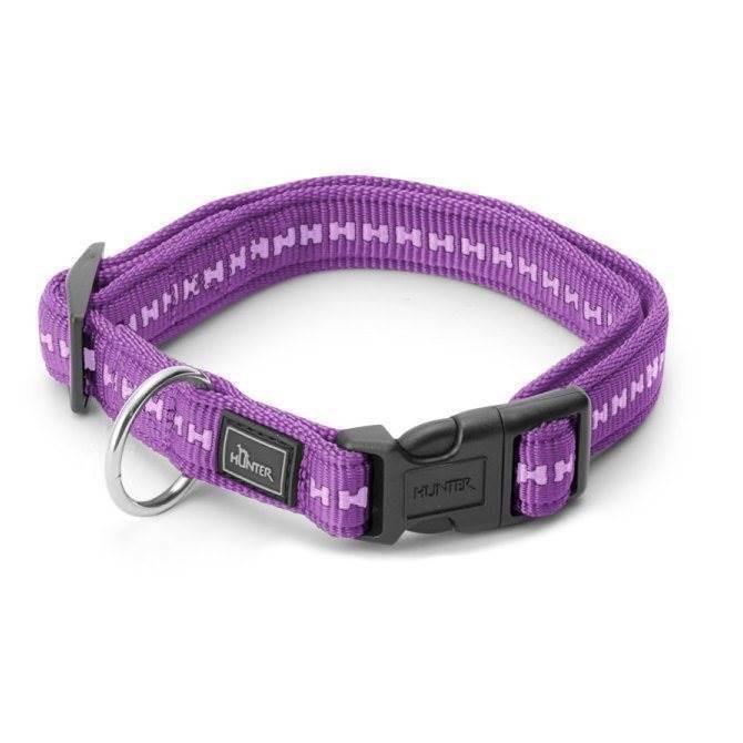 Hunter power grip halsbånd, violet, xsmall fra N/A fra mypets.dk