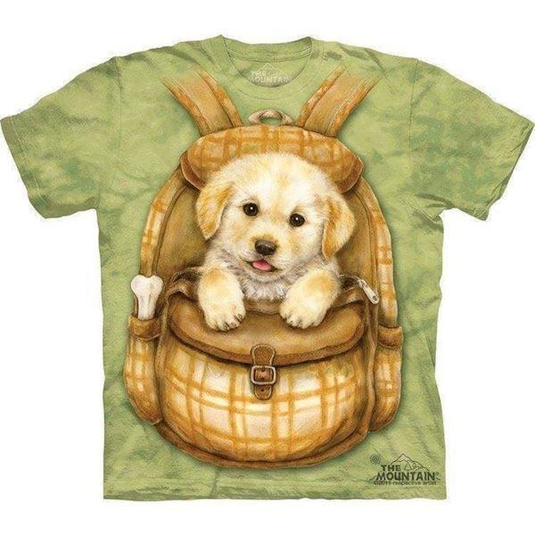 T-shirt med puppy backpack motiv fra N/A fra mypets.dk