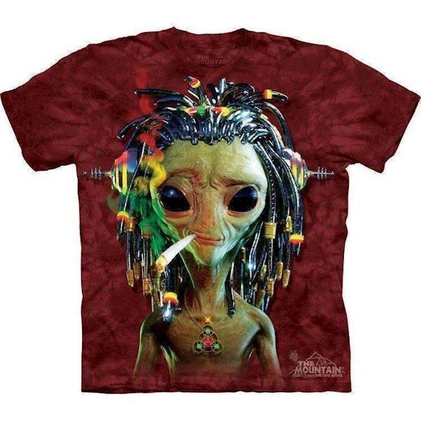N/A Hippie alien t-shirt fra mypets.dk