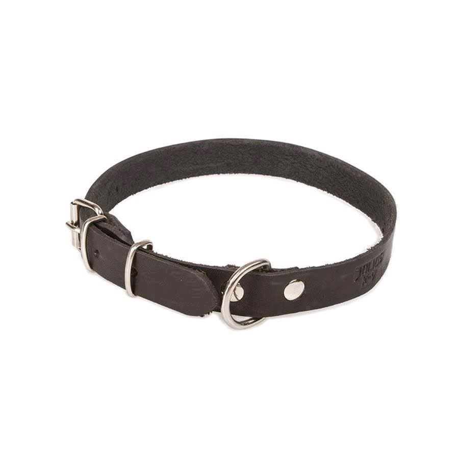 N/A – Julius k9 læder halsbånd, sort, 75 cm på mypets.dk