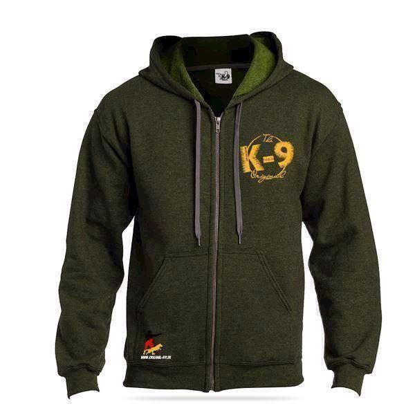 N/A K9 sweatshirt m/lynlås og hætte, meadow, small på mypets.dk