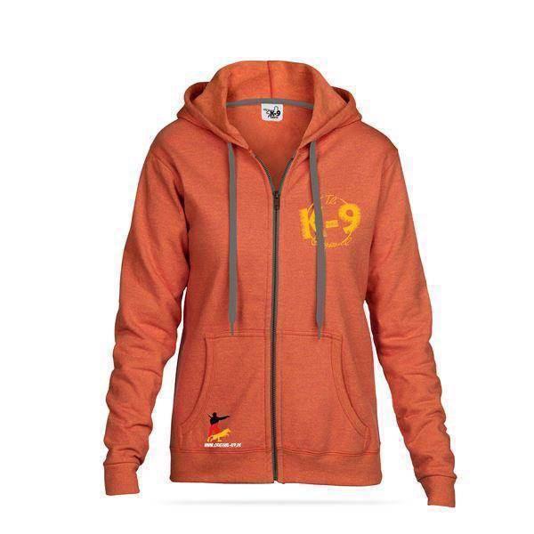 N/A K9 sweatshirt med lynlås og hætte, sunset på mypets.dk