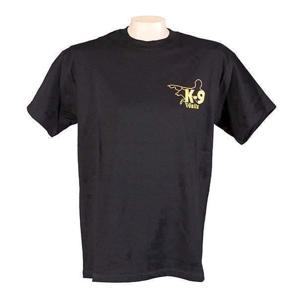 N/A – K9 t-shirt, sort, xxlarge fra mypets.dk