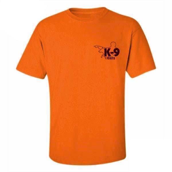 K9 t-shirt, orange, large fra N/A fra mypets.dk