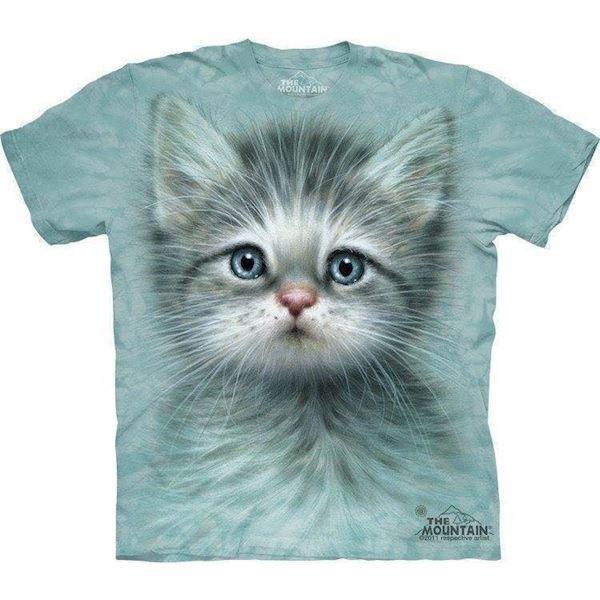 N/A T-shirt med blåøjet killing motiv fra mypets.dk