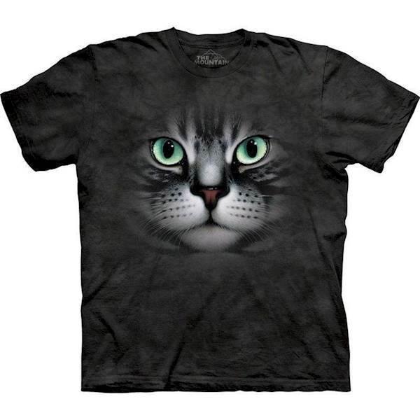 N/A T-shirt med kæmpe sort kat på mypets.dk