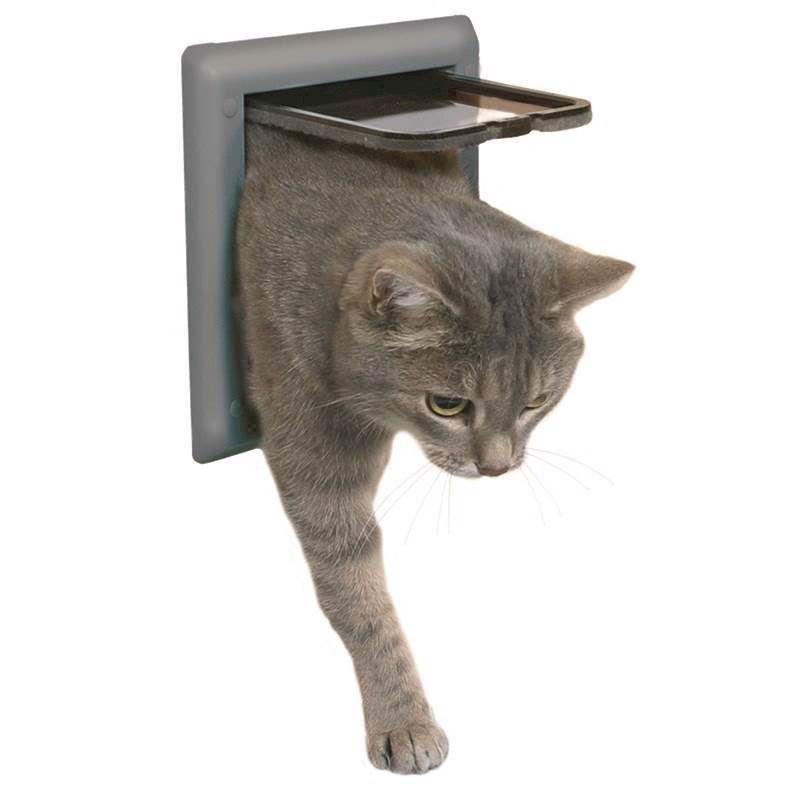 N/A Freecat classic kattedør, grå fra mypets.dk