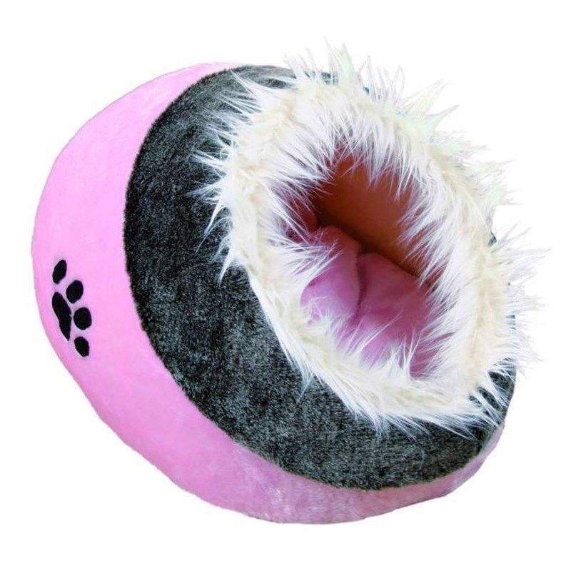 Minou kattehule, pink/grå