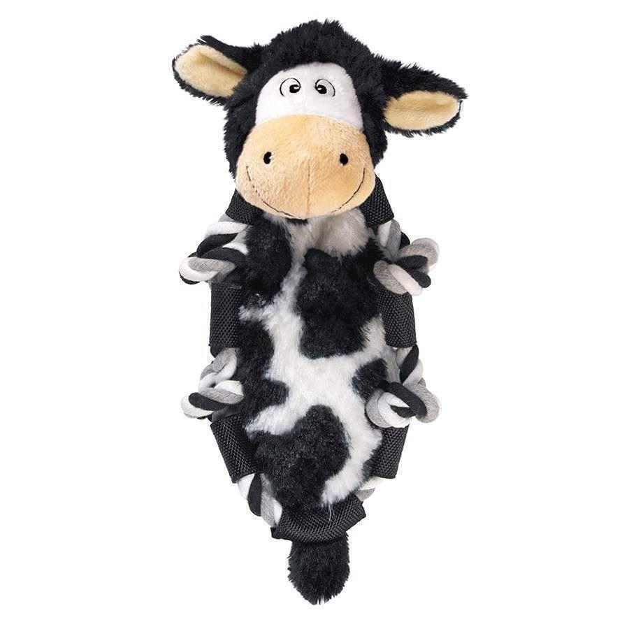 N/A – Kong barnyard knots cow, small fra mypets.dk