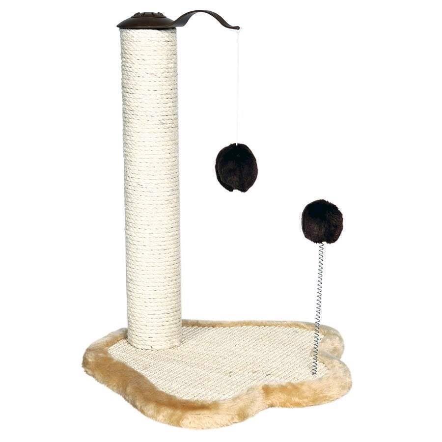 N/A Kradsetræ med legetøj og poteformet plysfod fra mypets.dk