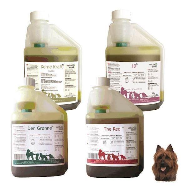 N/A – Pakken til hund og kat, rød + grøn+ 10 + kernekraft fra mypets.dk