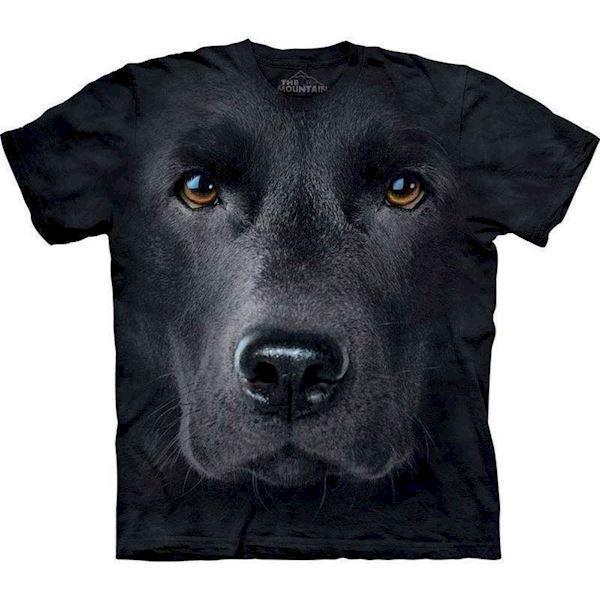 T-shirt med kæmpe sort labrador ansigt fra N/A på mypets.dk