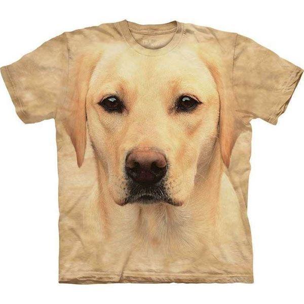 N/A T-shirt med kæmpe gul labrador ansigt på mypets.dk