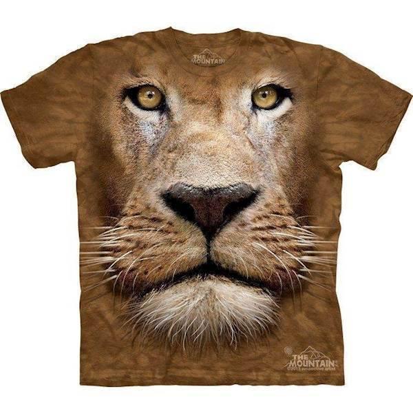 N/A – Lion face t-shirt fra mypets.dk
