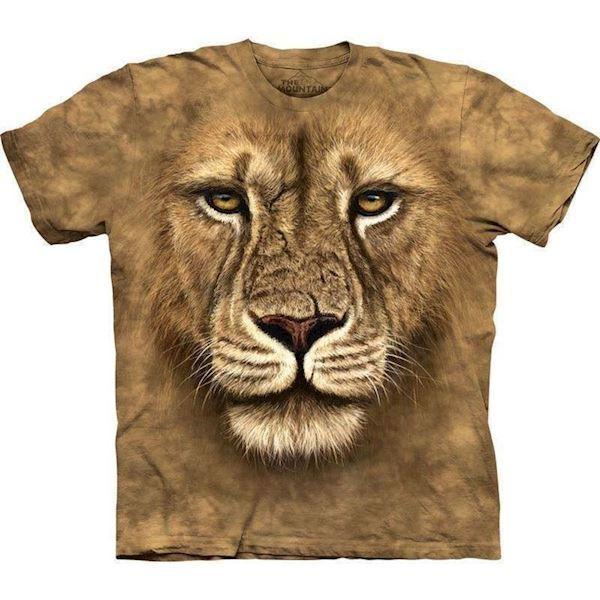 N/A T-shirt med kæmpe løve ansigt fra mypets.dk