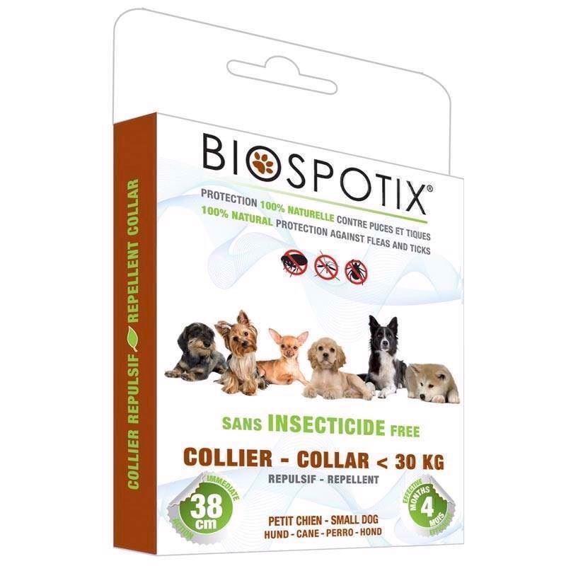 Biospotix loppehalsbånd mod lopper, flåter, tæger og myg fra N/A på mypets.dk