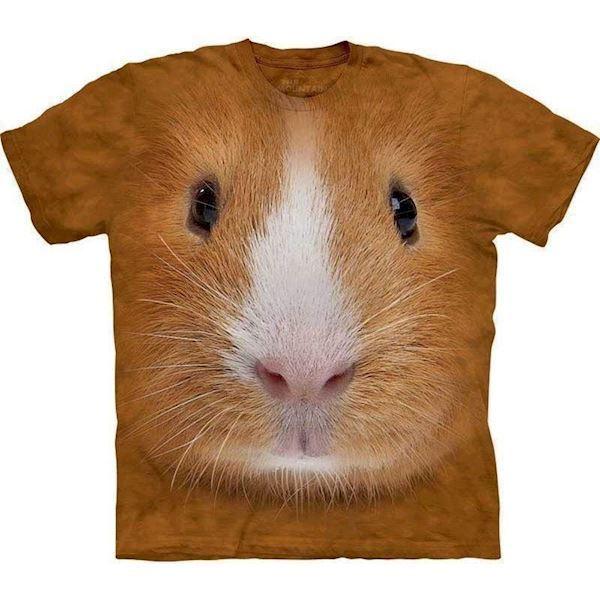 N/A – T-shirt med kæmpe marsvin ansigt på mypets.dk