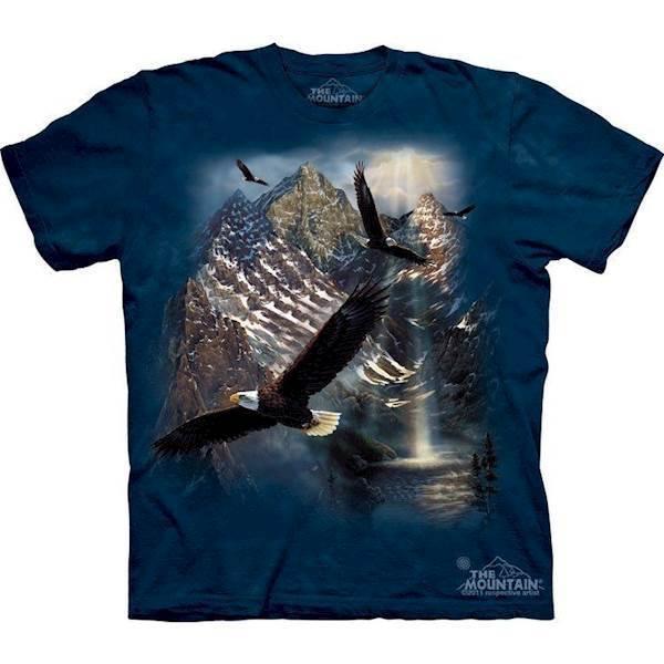 N/A – T-shirt med svævende ørne fra mypets.dk