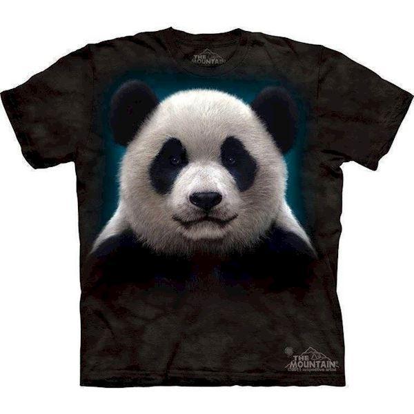 N/A – T-shirt med stort panda hoved fra mypets.dk