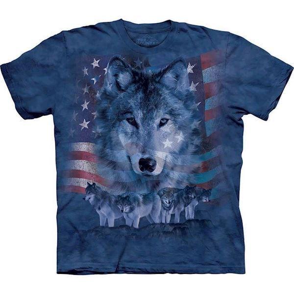 T-shirt med ulve collage fra N/A på mypets.dk