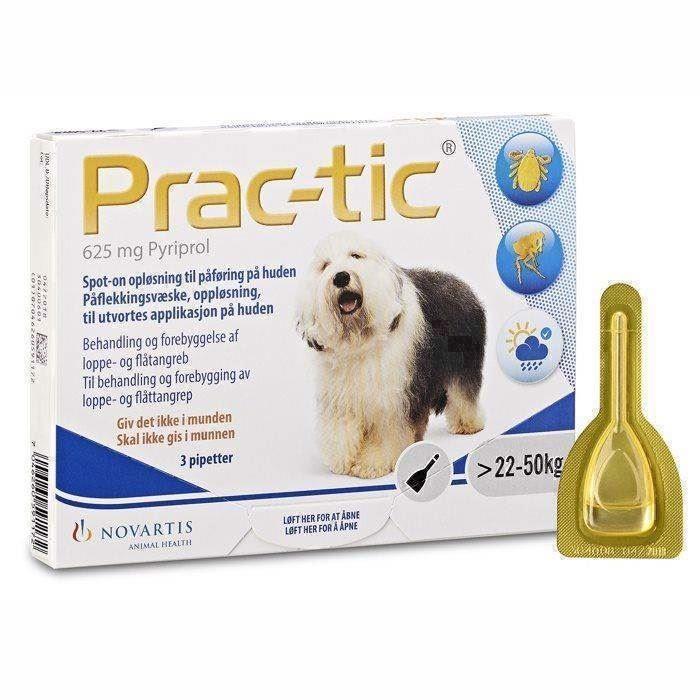 N/A – Prac-tic  loppe- og flåtmiddel til hunde,  22 til 50 kg på mypets.dk