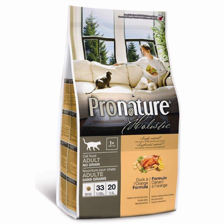 Pronature Holistic Cat Adult - Duck Kornfri, 5.44 kg