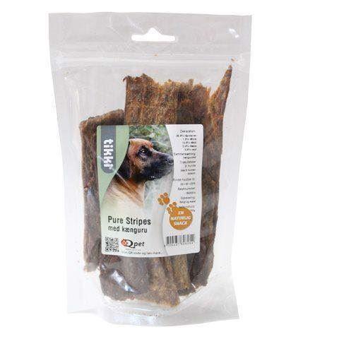 N/A Pure stripes med kænguru - 100% tørret kød på mypets.dk