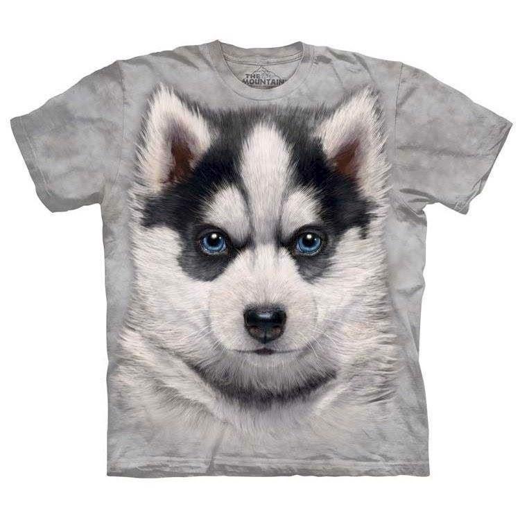 Siberian husky hvalp t-shirt fra N/A på mypets.dk