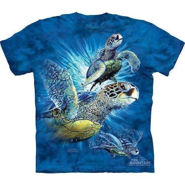 N/A T-shirt med hav skildpadder på mypets.dk