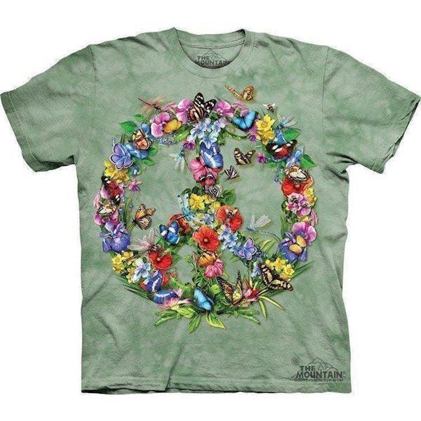 N/A Tshirt med freds sommerfugle på mypets.dk