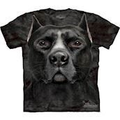 T-shirt med Sort Pitbull ansigt