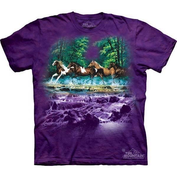 Spring creek run heste t-shirt fra N/A fra mypets.dk