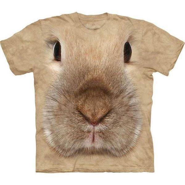 N/A – T-shirt med kæmpe kanin ansigt fra mypets.dk
