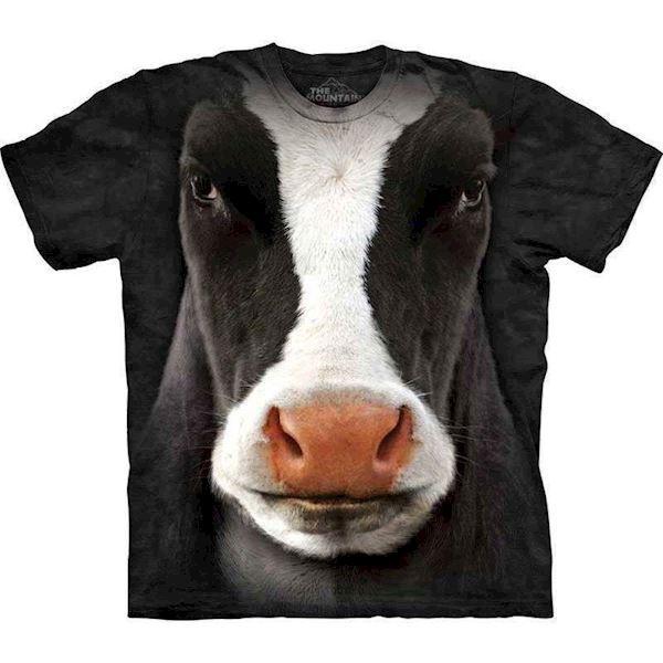 T-shirt med kæmpe sort ko hoved fra N/A på mypets.dk