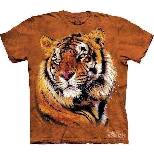N/A – T-shirts med stort flot tiger hoved på mypets.dk