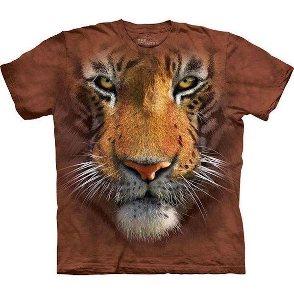 N/A – T-shirt med kæmpe tiger ansigt på mypets.dk