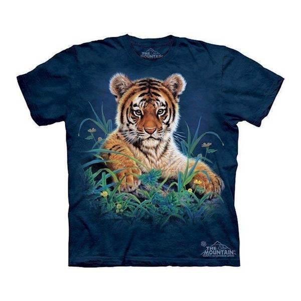 N/A – T-shirts med tiger unge i græs på mypets.dk