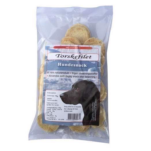 N/A – Torskefilet chips - tørret islansk fiskesnack , 75g fra mypets.dk