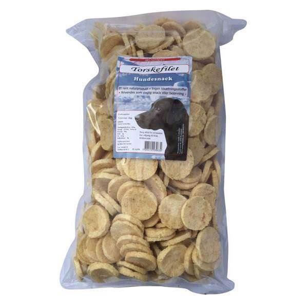 N/A – Torskefilet chips - storkøb, 1 kg fra mypets.dk