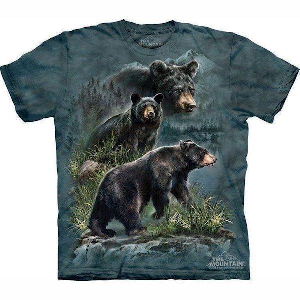 N/A T-shirt med 3 brune bjørne fra mypets.dk