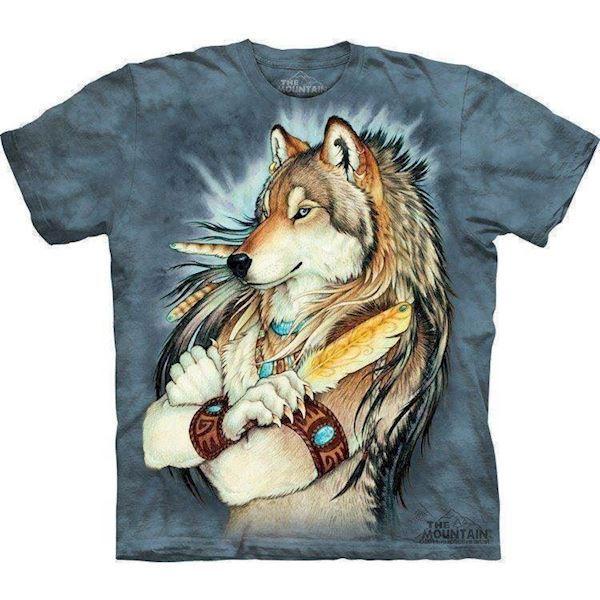 T-shirts med indianer ulv fra N/A på mypets.dk