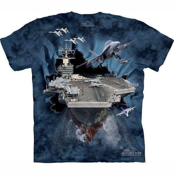 N/A T-shirt med 3d hangarskib fra mypets.dk