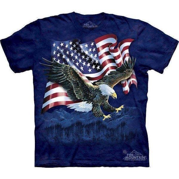 N/A T-shirt med amerikansk kongeørn på mypets.dk